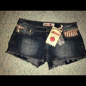 Pants - American flag jeans shorts